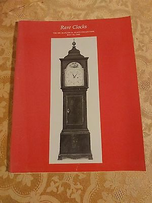 1988 Rare Clocks Catalog Dr. Marlow Olsen Collection Watches Timepiece Horology