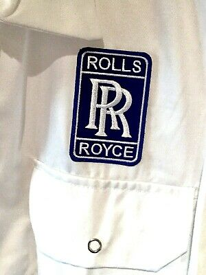 """Goodwood Revival Vintage Classic Retro Rolls Royce Badged Overalls 40"""" Chest"""
