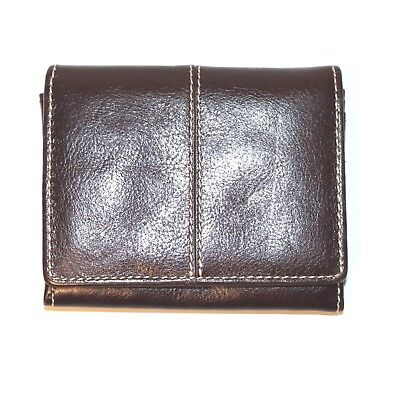 Leather Coin Purse Cards Small Brown Small Zip Around Genuine Quality Gift