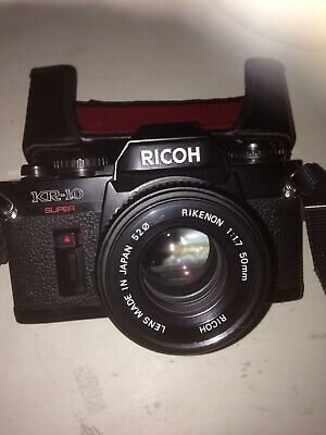 RICOH KR-10 super With Rikenon 50mm 1:1.7 Lens, Sun Zoom Lens, Bag, Instructions