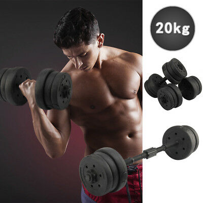 20KG Weights Dumbbell Set Gym Workout Fitness Biceps Home Sport Training