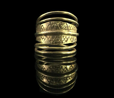 Ancient Viking Gold Twisted Ring, circa 9th-11th century