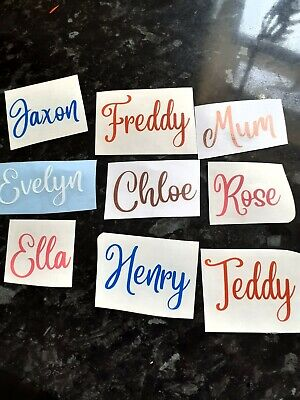 Personalised Name / Word Vinyl Decal Sticker Christmas Bauble Xmas ROSE GOLD