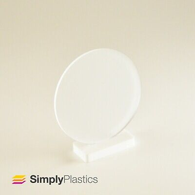 Perspex® Laser Cut Frosted Clear Acrylic Plastic Disc / Various metric diameters