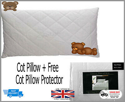 Special Offer*Baby Junior Toddler Cot Pillow + Free Quailted Pillow Prototector
