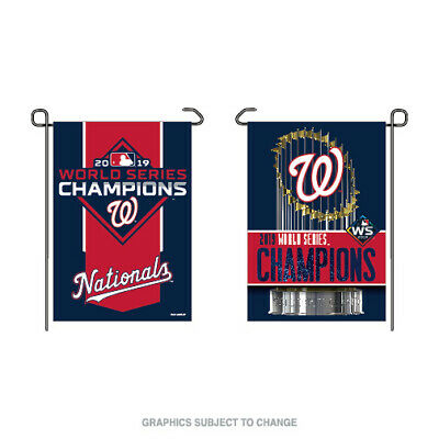 Washington Nationals 2019 World Series Champions Double Sided 12x18 Garden Flag