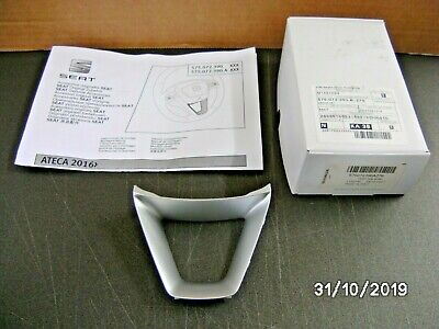 New Genuine Seat Ateca Steering Wheel Lower Trim Crossover Silver 575072390A0Z76