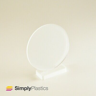 Perspex® Laser Cut Frosted Clear Acrylic Plastic Disc Circle