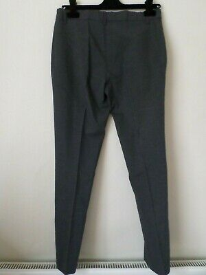 New Girls M&S School Uniform Ultimate Slim Leg Grey Trousers Age 12-13 Years £14