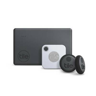 Tile Essentials Combo 4 Pack- GPS Bluetooth Tracker Key Finder Anything Locator