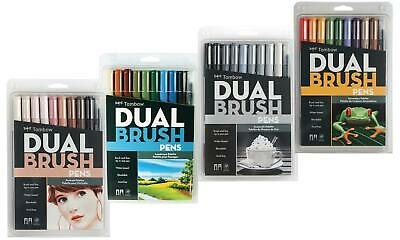 Genuine 10pc Tombow Dual Brush Pen | Arts & Craft 14 PALETTES AVAILABLE