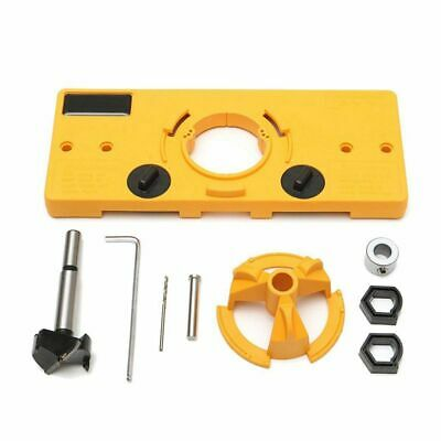 35MM Cup Style Hinge Boring Jig Drill Guide Set Door Hole Template For Kreg K4M3