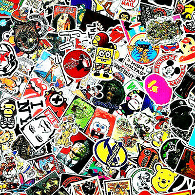 Stickers 100 Skateboard Laptop Decals Luggage Dope Sticker Random Christmas Gift