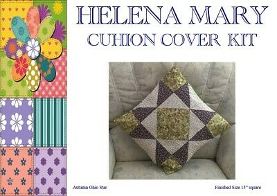 """Patchwork Kit Complete Cushion Cover Kit - Autumn Ohio Star - 15""""Sq"""