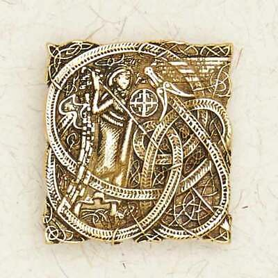 St. Patrick-Bronze/Celtic/Gold/Christian/Medieval/Ireland/Pendant/Jewelry