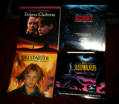 Stephen KING LaserDisc Lot: FIRESTARTER, MISERY, DOLORES CLAIBORN, Plus 2 Others