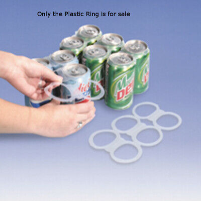 Plastic 6-Pair Rings For Soda Cans - Count of 1000