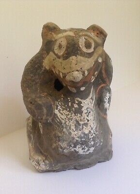 AUTHENTIC RARE CHINESE HAN DYNASTY PAINTED BEAR (PANDA?), c. 206 BC - AD 220