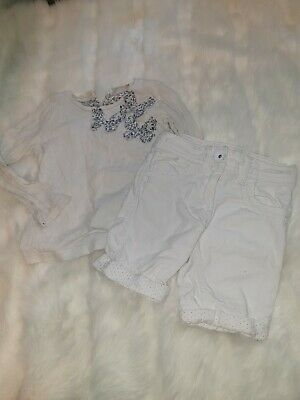 Girls 2-3 Years Top Jumper Floral Butterflies Shorts Denim Jeans outfit Next Day