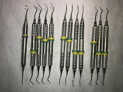 Dental Instruments, Very Good Condition, Hu-Friedy And Nordent, Lot Of 12