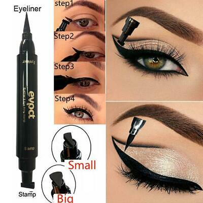 Double-end Triangle Stamp Eyeliner 2-in-1 Waterproof Eyeliner Winged T5K8