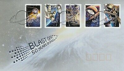 2007    Blast off Peel & Stick stamps on FDC