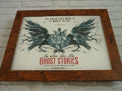 Framed Large wood Promo poster 16x12 Ghost stories jeremy dyson andy nyman