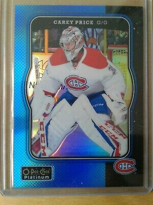 2017-18 OPC Platinum RETRO BLUE rainbow parallel Carey PRICE  / 149 R38