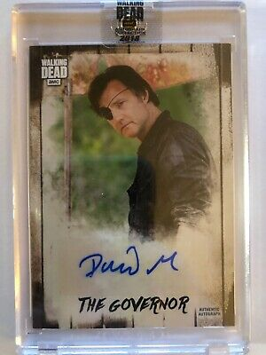 2018 Waking Dead Autograph Collection David Morrissey Auto The Governor 07/30