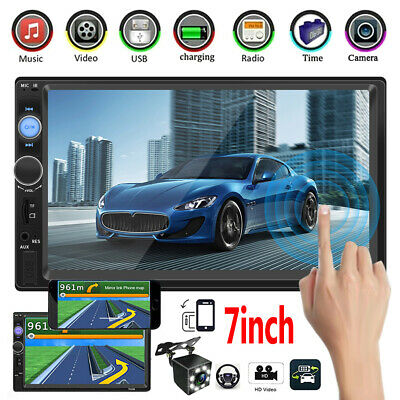 "Android 2 Double 2 Din 7""Car FM MP5 Player Touch Screen Stereo Radio Bluetooth"