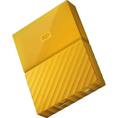 "Western Digital WD My Passport 2TB 2.5"" Portable External Hard Drive HDD Yellow"