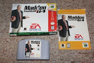Madden Football (Nintendo 64 n64) Complete in Box GOOD