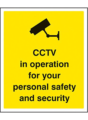 Caledonia Signs 21712H CCTV in Operation for Personal Safety and Security Sign,