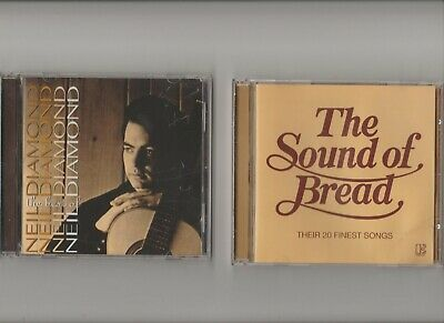 Neil Diamond : The Best Of + Bread :  The Sound Of  Bread / TWO CD Albums
