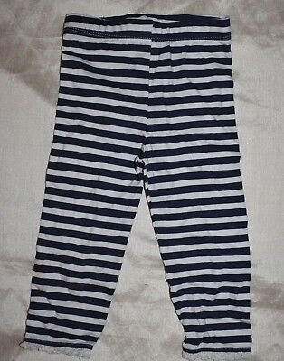 CRAFTED Leggins Baby Girls size 12-18 months Navy/White