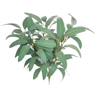 Artificial Fake Faux Silk Flower Eucalyptus Plant Green Leaves Favor Home Decor