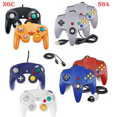 2Pack Wired NGC Controller/ N64 Gamepad for Nintendo GameCube GC & N64 Console