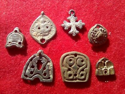 Authentic Medieval Bronze Amulet Lot