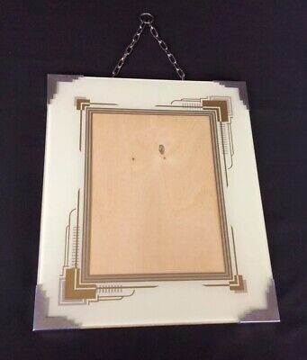 Art Deco Photo Picture Frame Glass Reverse Painted 1930s Original