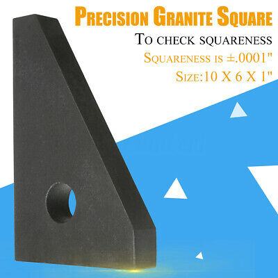 SURFACE ANGLE PLATE Cake Pans HHIP 4901-2705 10X6X1'' Precision Granite Square