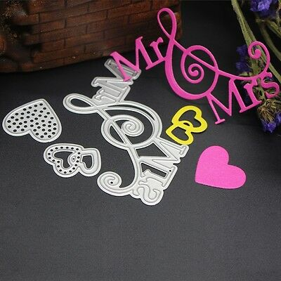 Mr and Mrs Metal Cutting Dies Stencil Scrapbook Paper Cards Craft Embossing cn