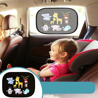 2x55cm CAR VAN SUN SHADES ROLLER BLINDS WINDOW GLASS PRIVACY COVER CHILD SAFETY