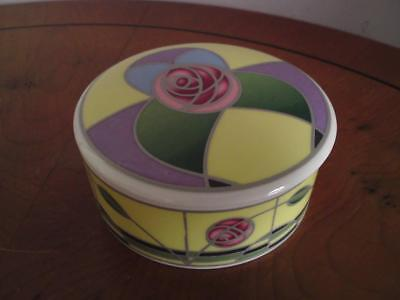 Modern Sutherland Bone China Box after Charles Rennie Mackintosh Glasgow style
