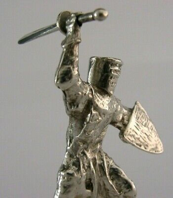 Quality Solid Sterling Silver Knights Templar Figure London 1975