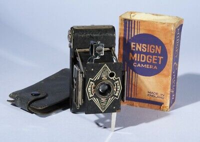 Houghton Ensign Midget Model 33 Folding Strut Camera * Fully Working