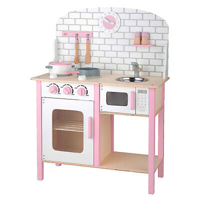 Deluxe Large Wooden Kids Kitchen Set Role Play Dollshouse Furniture Toy Cooking