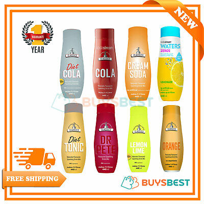 New : Sodastream Concentrate Classics Syrup 440ml - Assorted Flavours