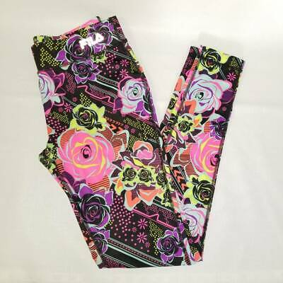 FILA Sport Girls Active Wear Leggings Multicolor Floral Stretch Athletic 14/L