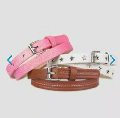 Girls Belts Set Of 3 Cat & Jack Multi Colored Kids Accessories Size Large