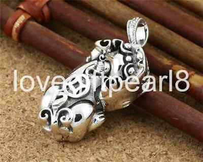 Pure S925 Sterling Silver Fashion Retro Chinese Style Brave Troops Pendant No